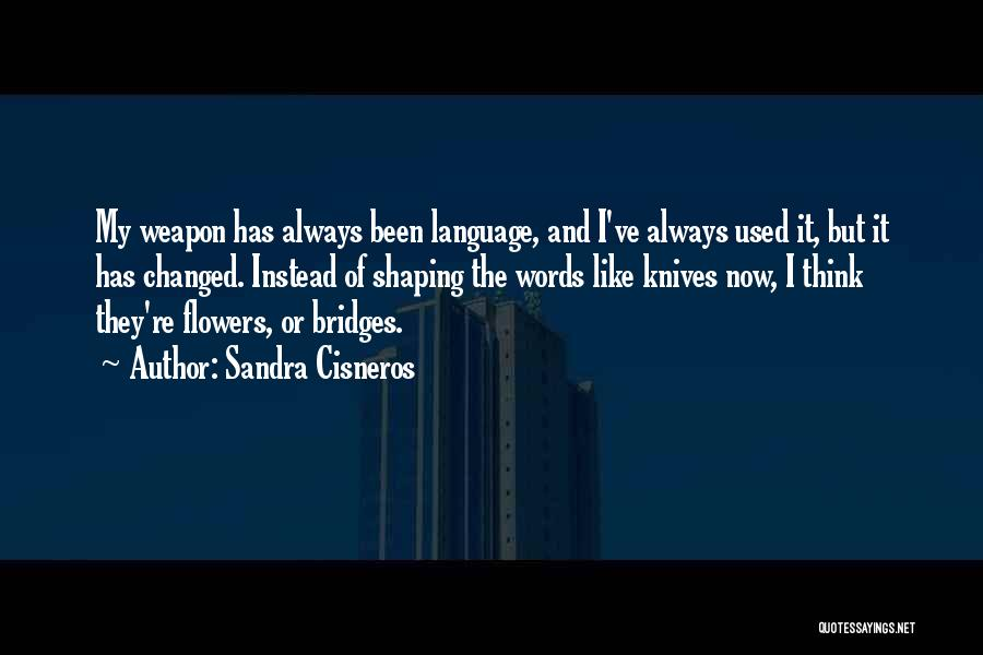 Words Weapon Quotes By Sandra Cisneros