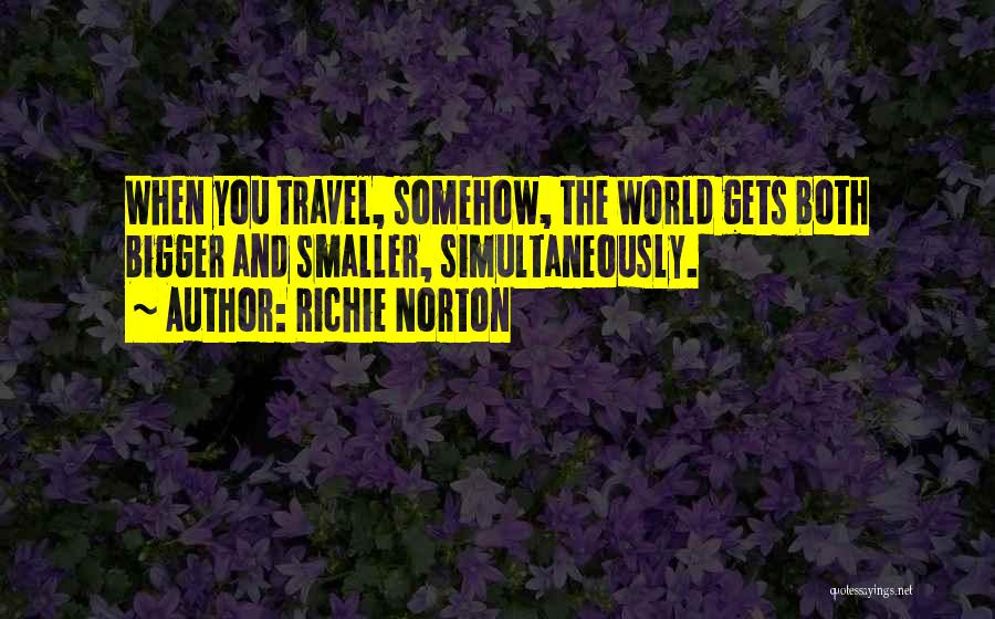 Work And Travel Quotes By Richie Norton