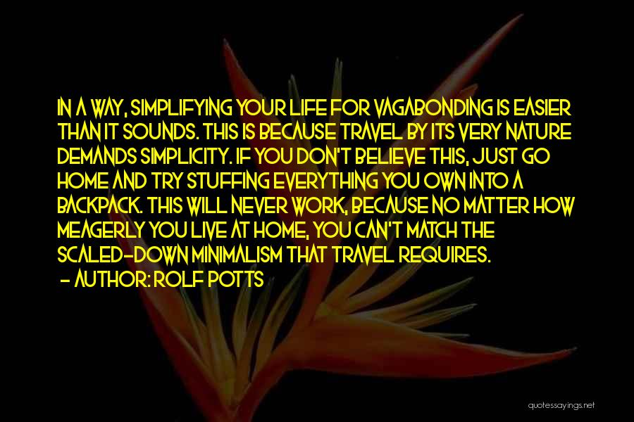 Work And Travel Quotes By Rolf Potts