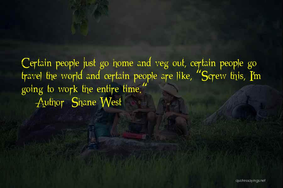 Work And Travel Quotes By Shane West