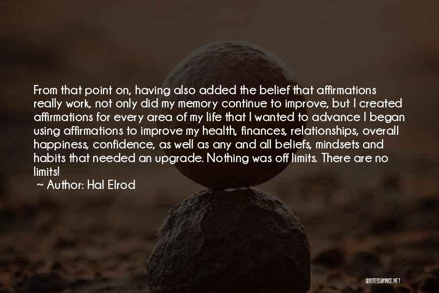 Work Area Quotes By Hal Elrod
