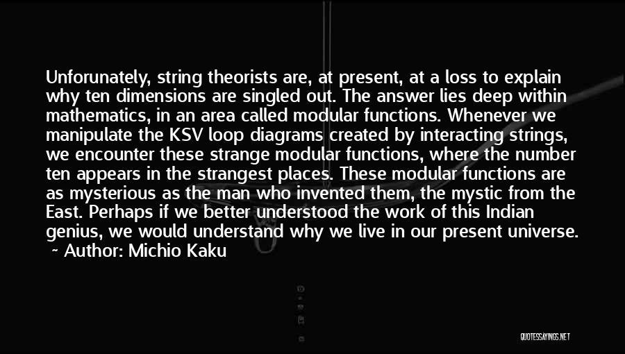 Work Area Quotes By Michio Kaku