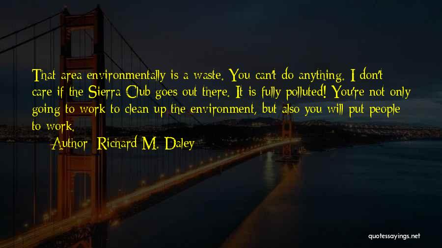Work Area Quotes By Richard M. Daley