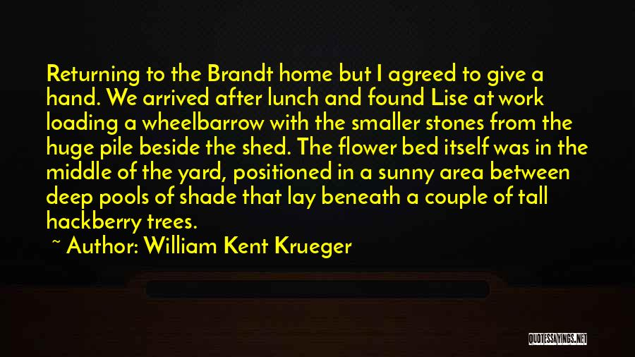 Work Area Quotes By William Kent Krueger