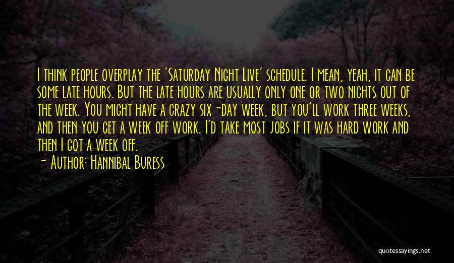 Work Hard Live Well Quotes By Hannibal Buress