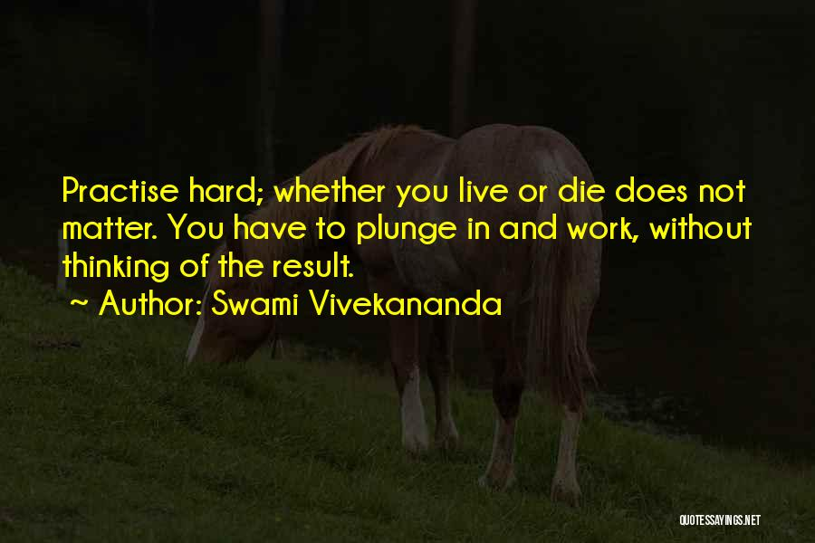 Work Hard Live Well Quotes By Swami Vivekananda