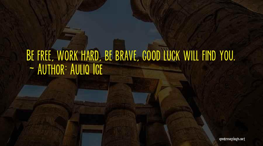 Work Hard You Will Success Quotes By Auliq Ice
