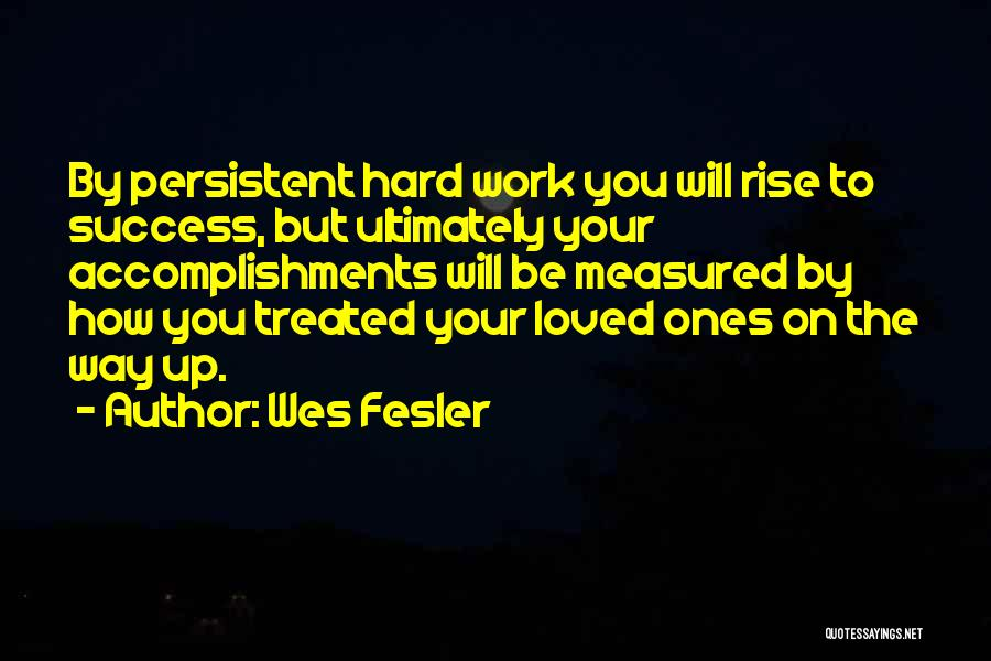 Work Hard You Will Success Quotes By Wes Fesler