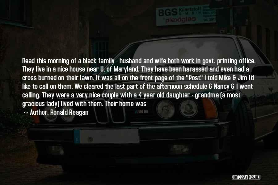 Work Like Family Quotes By Ronald Reagan