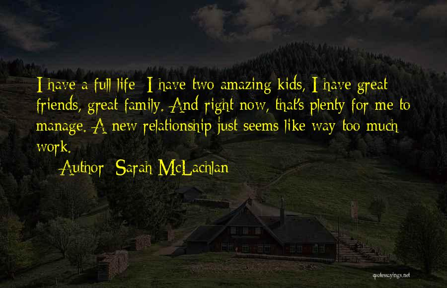 Work Like Family Quotes By Sarah McLachlan