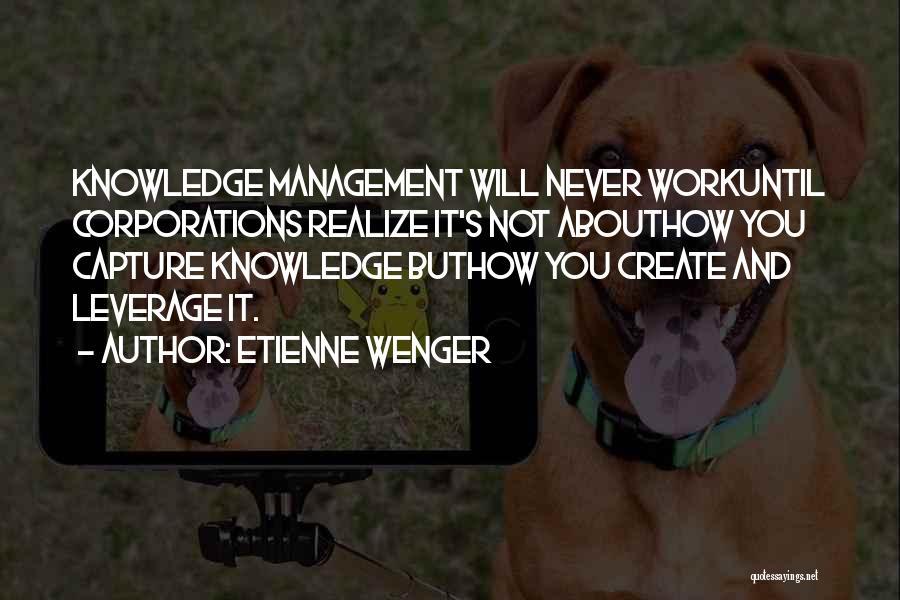 Work Until Quotes By Etienne Wenger