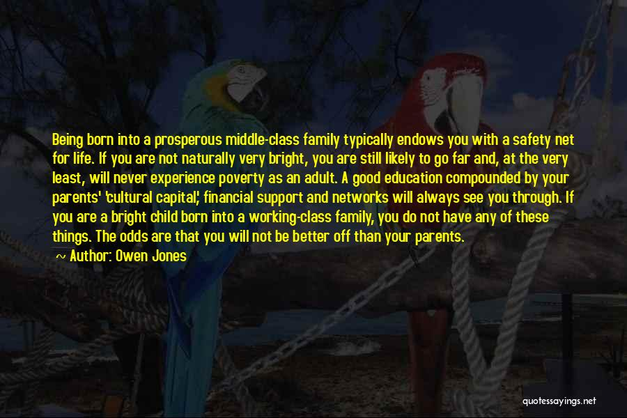 Working For Your Family Quotes By Owen Jones
