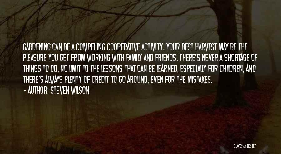 Working For Your Family Quotes By Steven Wilson