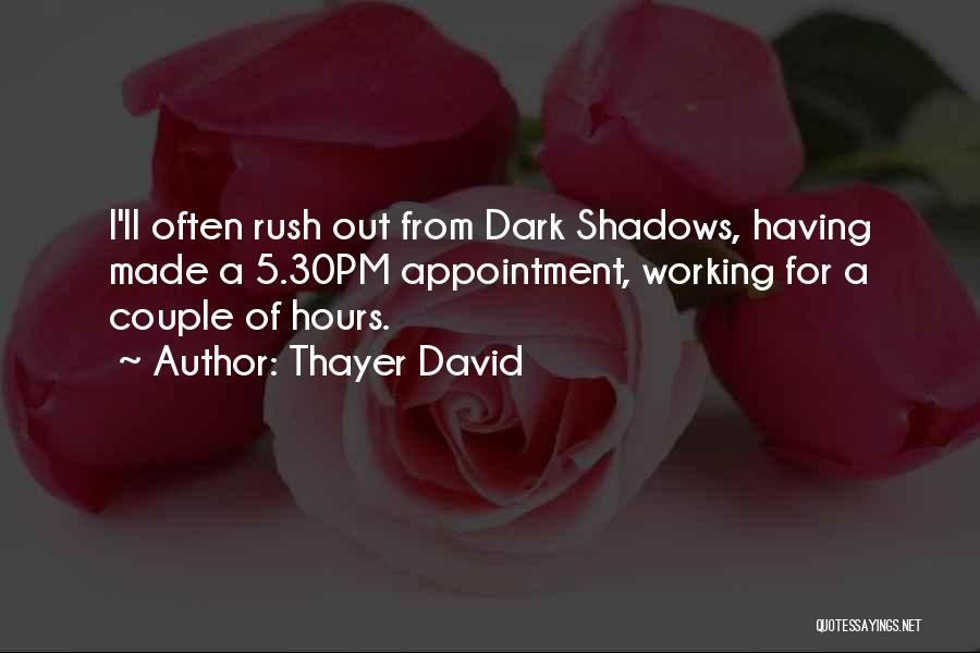 Working Hours Quotes By Thayer David