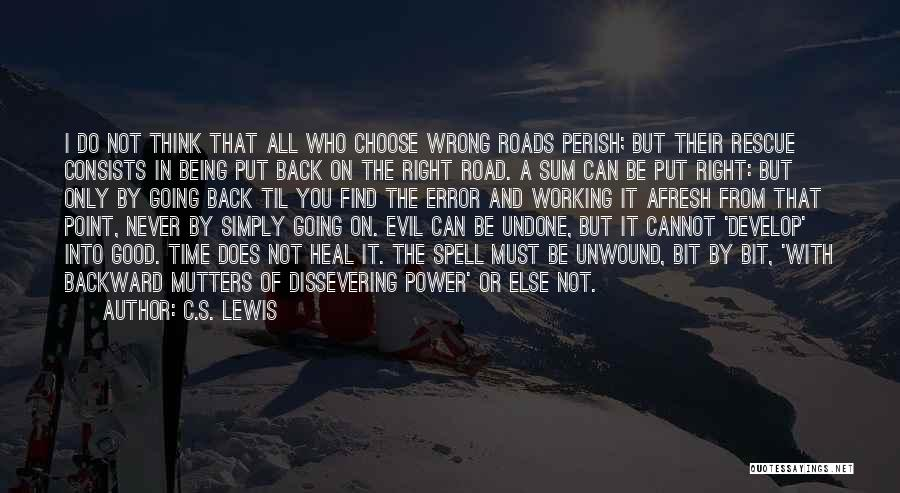 Working On The Road Quotes By C.S. Lewis