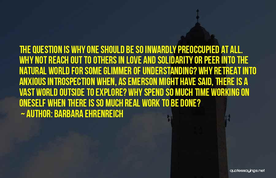 Working Outside Quotes By Barbara Ehrenreich