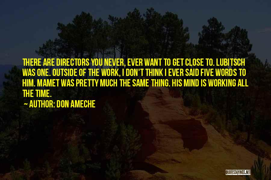 Working Outside Quotes By Don Ameche