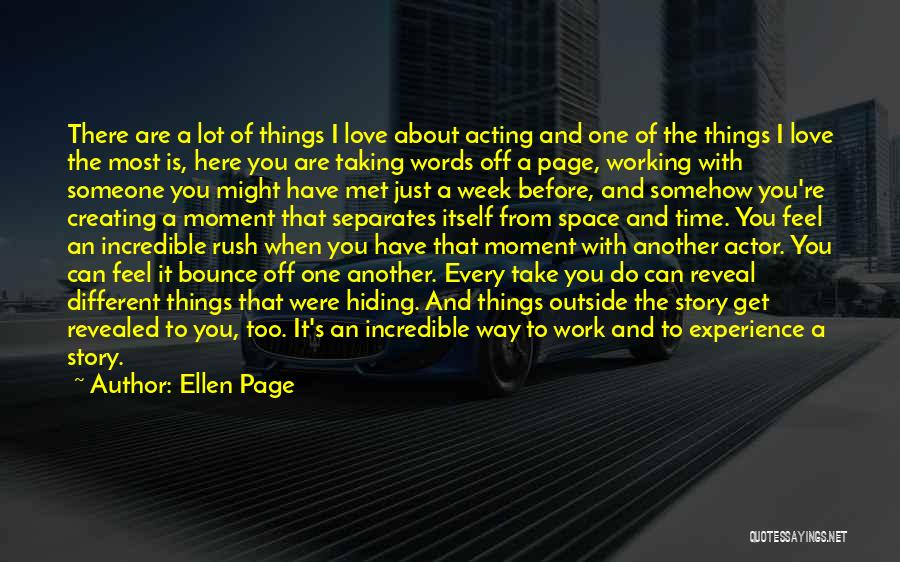 Working Outside Quotes By Ellen Page