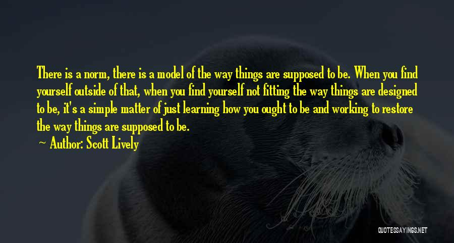 Working Outside Quotes By Scott Lively