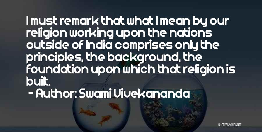 Working Outside Quotes By Swami Vivekananda
