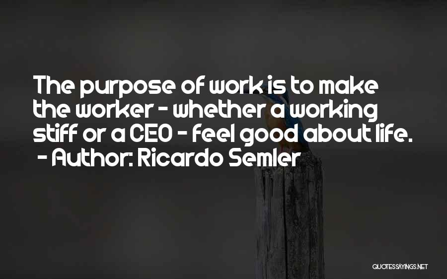 Working Stiff Quotes By Ricardo Semler