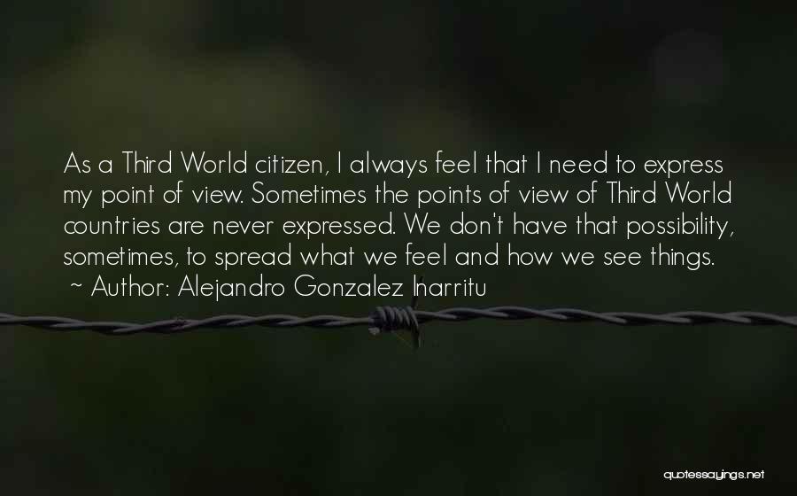 World Citizen Quotes By Alejandro Gonzalez Inarritu
