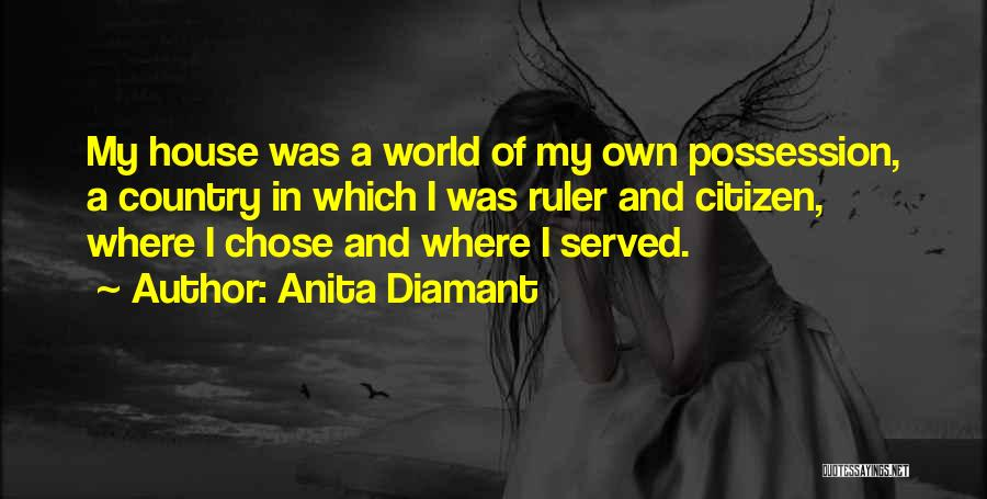 World Citizen Quotes By Anita Diamant