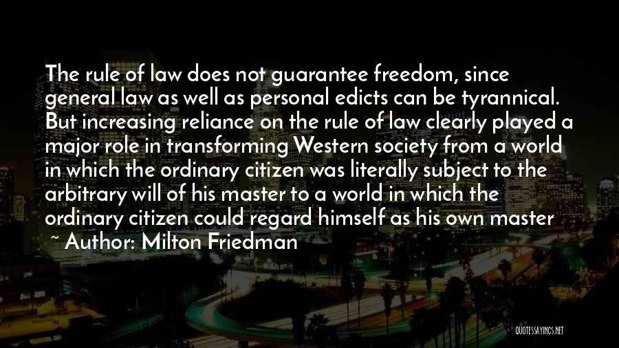 World Citizen Quotes By Milton Friedman