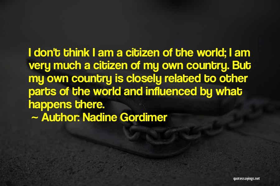 World Citizen Quotes By Nadine Gordimer