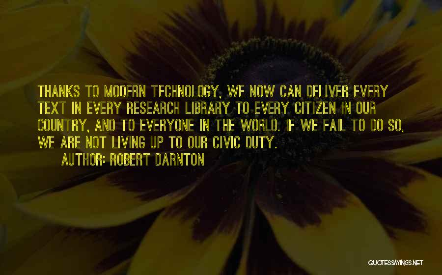 World Citizen Quotes By Robert Darnton