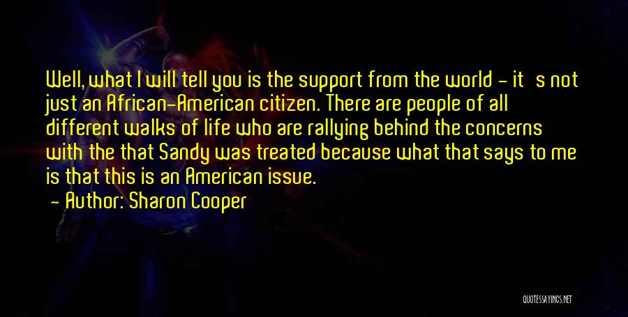 World Citizen Quotes By Sharon Cooper