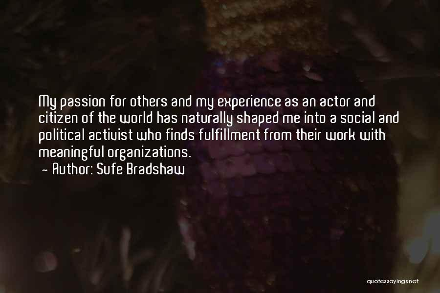 World Citizen Quotes By Sufe Bradshaw