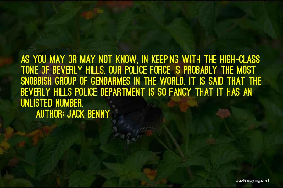 World Class Funny Quotes By Jack Benny