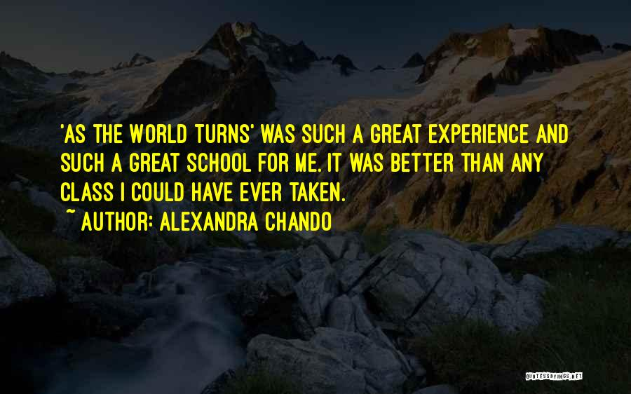 World Class Quotes By Alexandra Chando