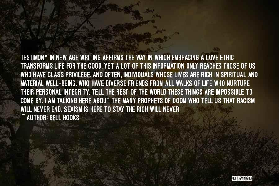 World Class Quotes By Bell Hooks
