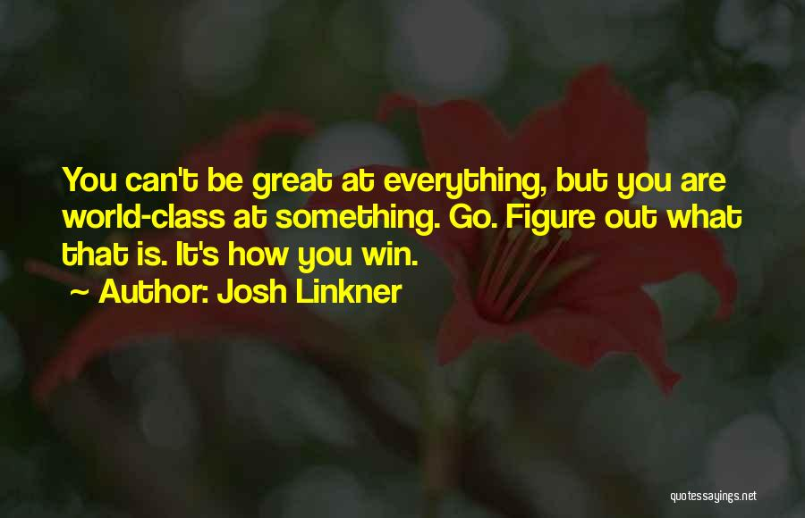 World Class Quotes By Josh Linkner