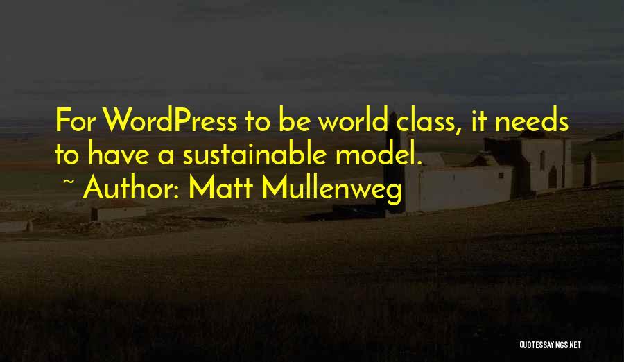 World Class Quotes By Matt Mullenweg