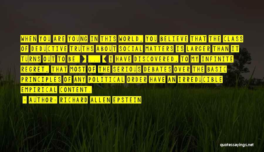 World Class Quotes By Richard Allen Epstein