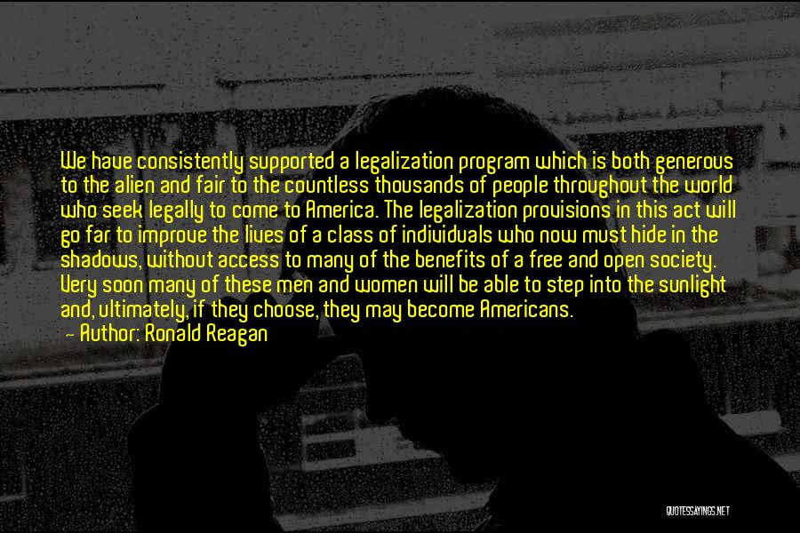 World Class Quotes By Ronald Reagan