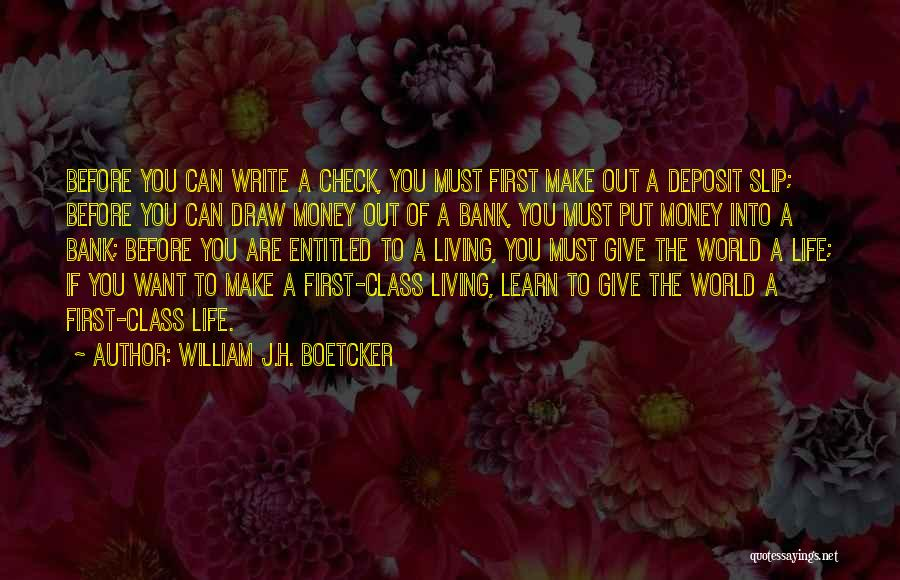 World Class Quotes By William J.H. Boetcker