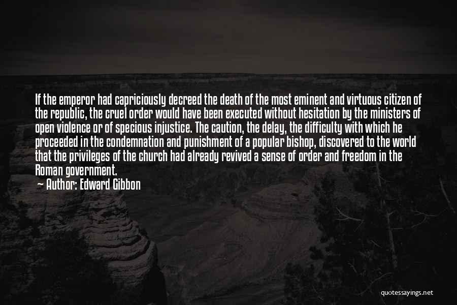 World Cruel Quotes By Edward Gibbon