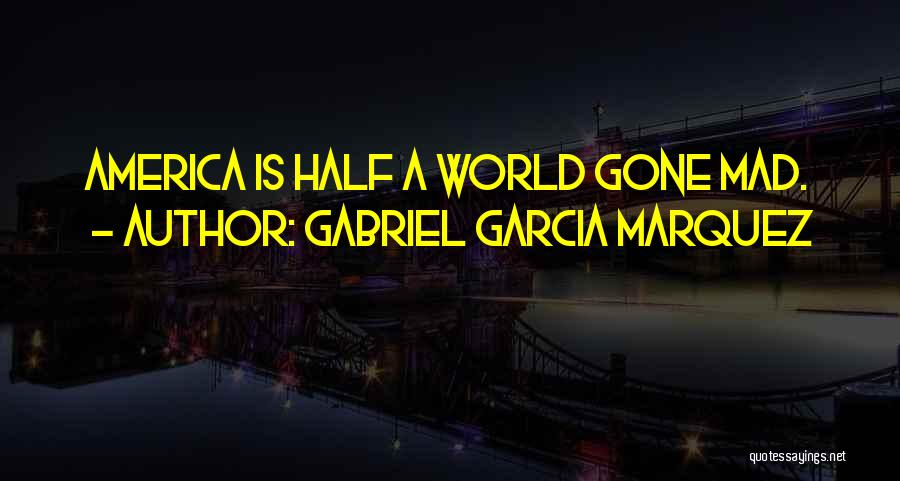 World Gone Mad Quotes By Gabriel Garcia Marquez