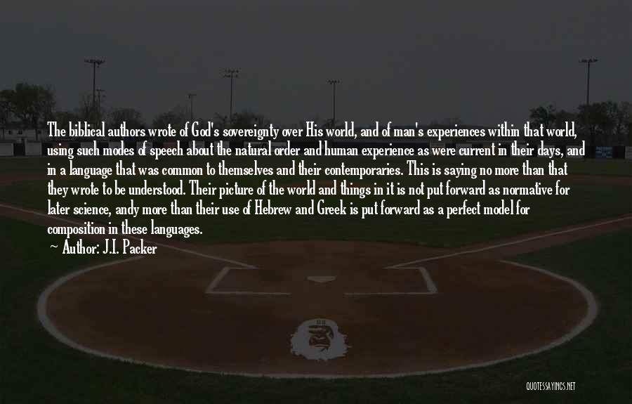 World Languages Quotes By J.I. Packer