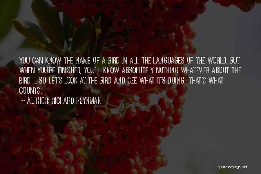 World Languages Quotes By Richard Feynman