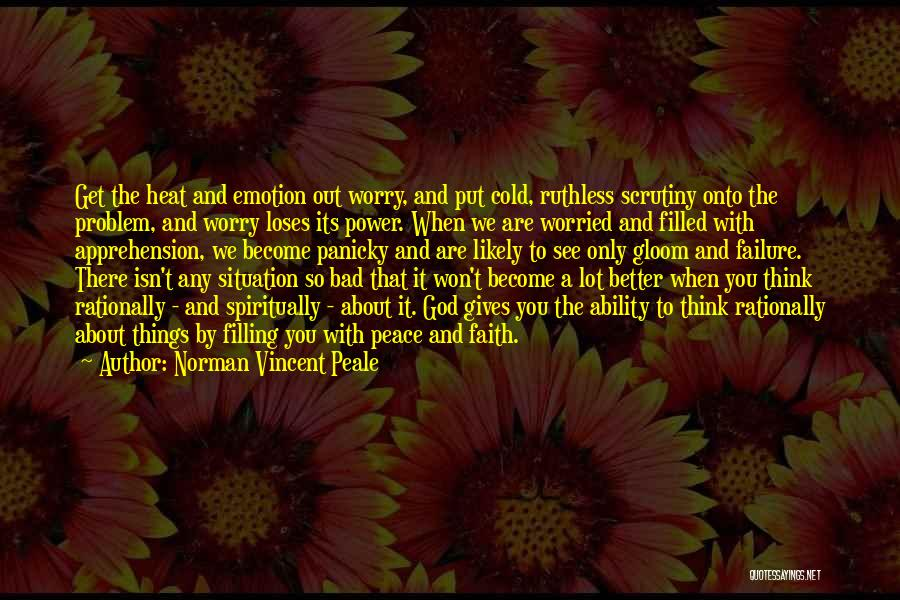 Worried Quotes By Norman Vincent Peale