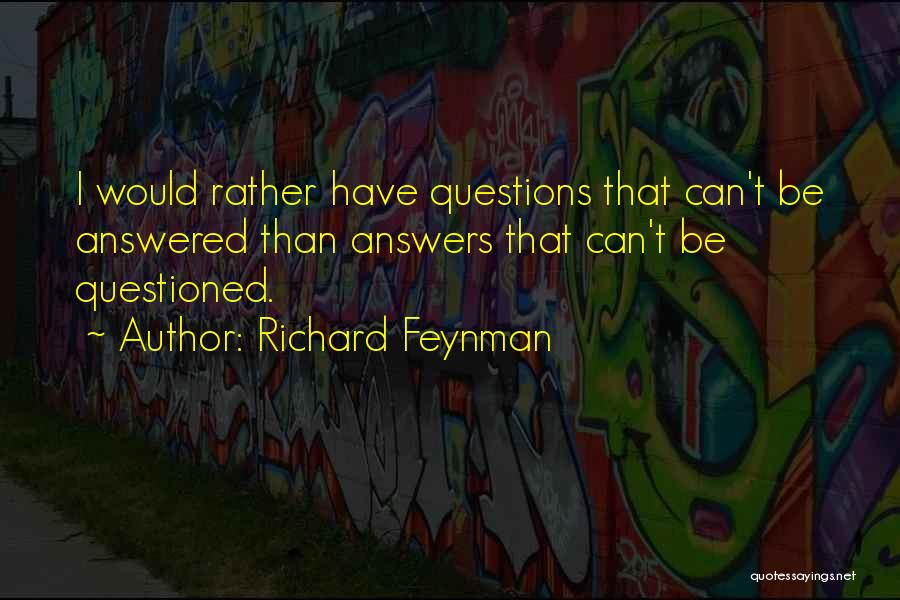 Would Be Quotes By Richard Feynman