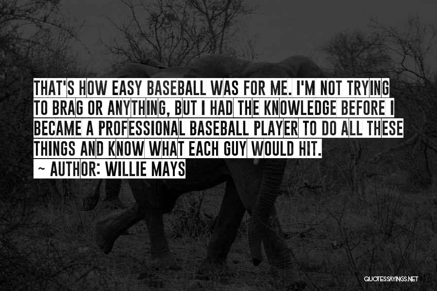 Would Do Anything Quotes By Willie Mays