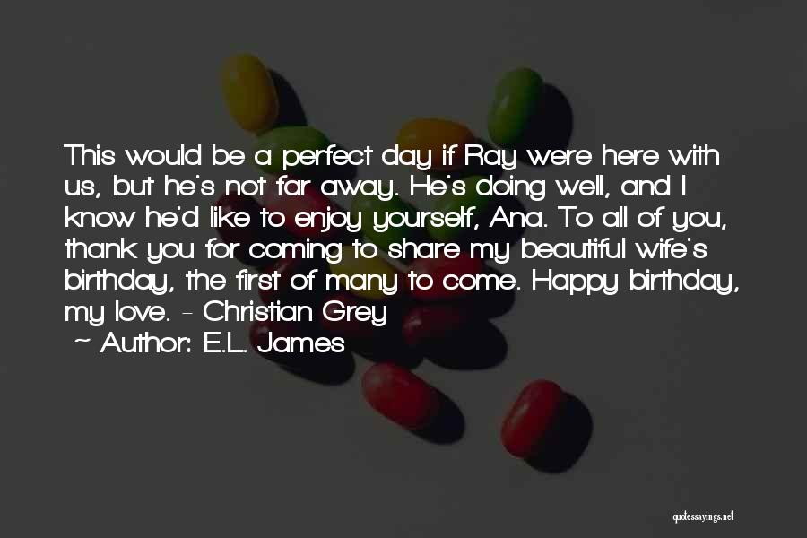 Would You Be My Wife Quotes By E.L. James