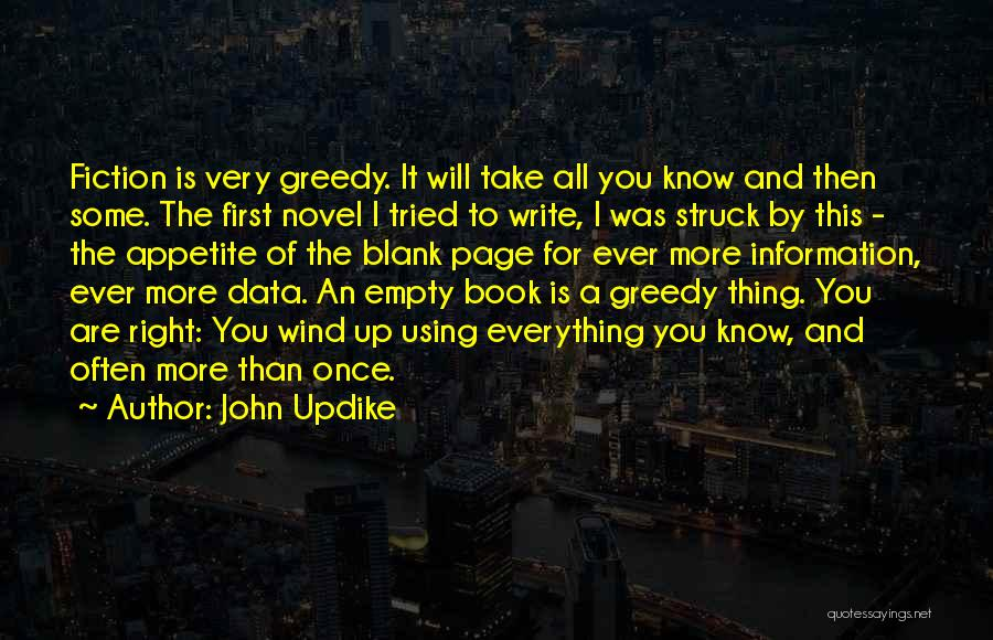 Writing A Book Using Quotes By John Updike