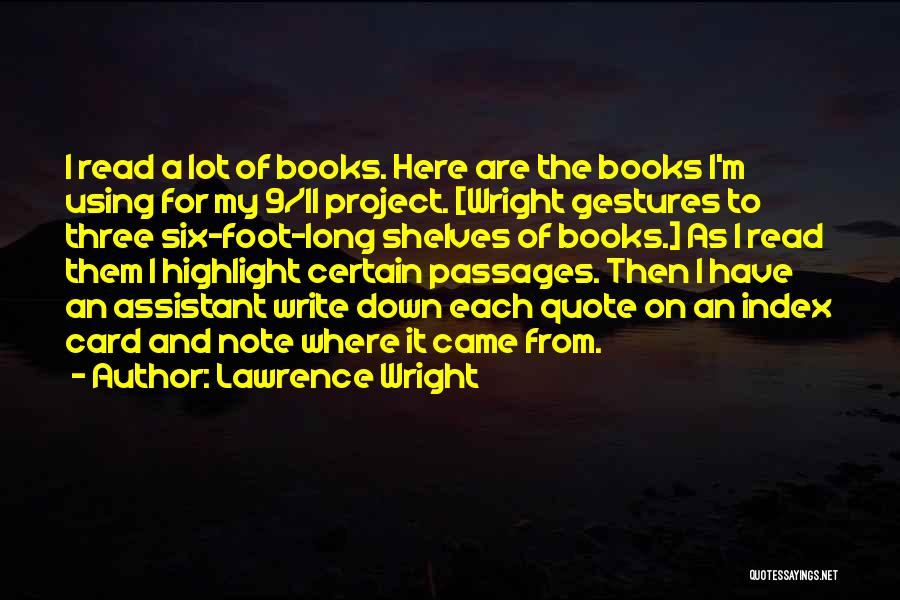 Writing A Book Using Quotes By Lawrence Wright